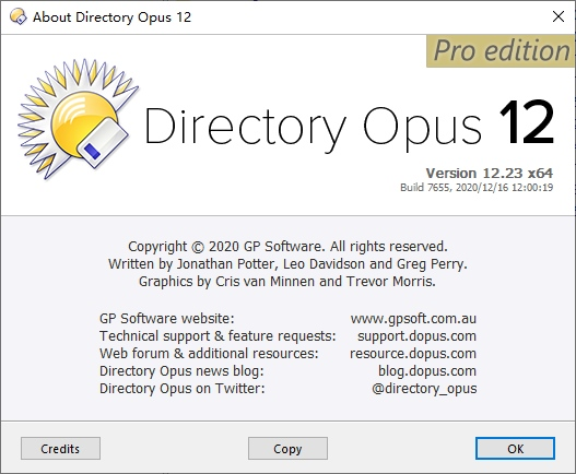 Directory Opus12 v12.19 破解证书