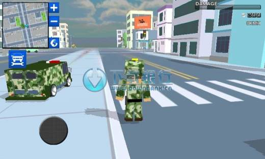 像素軍隊(Blocky Army City Rush Racer) v1.1 for android 最新修改版